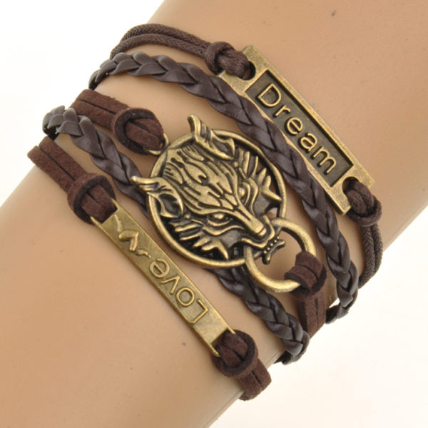 """""""Wolf Charm"""" Bracelet"""