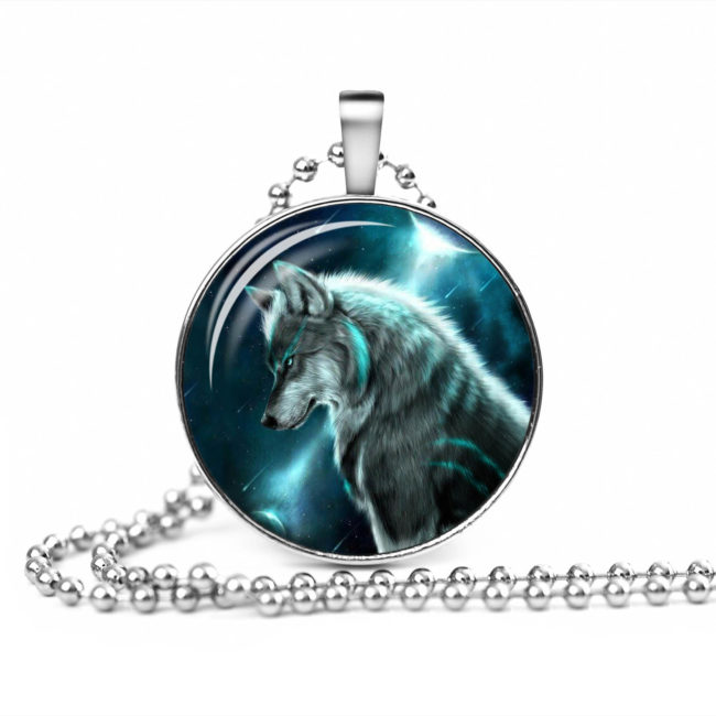 Wolf paw necklace wolvesfanworld glowing wolf necklaces mozeypictures Choice Image